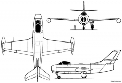 yakovlev yak 25 i 1947 russia model airplane plan