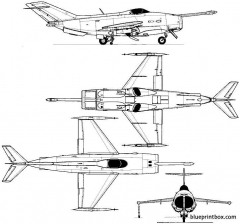 yakovlev yak 36 1967 russia model airplane plan