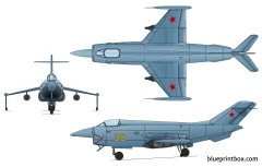 yakovlev yak 36mp freehand model airplane plan