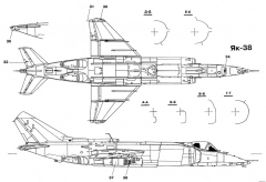 yakovlev yak 38 5 model airplane plan