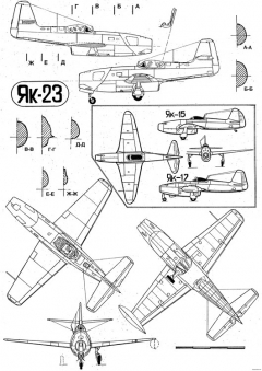 yakovlev yak 3 2 model airplane plan