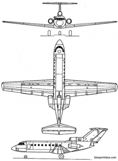 yakovlev yak 40 model airplane plan