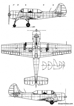 yakovlev yak 52 model airplane plan