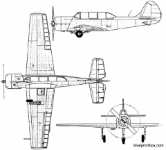 yakovlev yak 52 1974 russia model airplane plan
