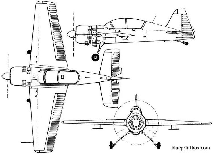 yakovlev yak 54 1993 russia model airplane plan