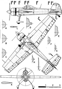 yakovlev yak 55 model airplane plan