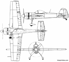 yakovlev yak 55 1981 russia model airplane plan