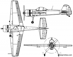 yakovlev yak 55m 1989 russia model airplane plan