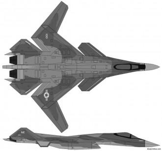 yf 25 x 02 wyvern model airplane plan