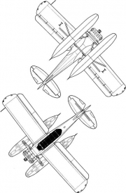 yokosuka e14y1 2 3v model airplane plan