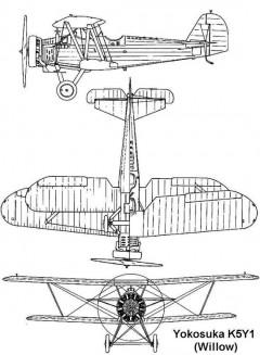 yokosuka k5y1 3v model airplane plan