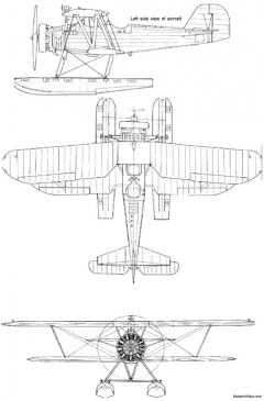 yokosuka k5y2 float version model airplane plan