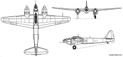 yokosuka p1y2 kugisho frances model airplane plan
