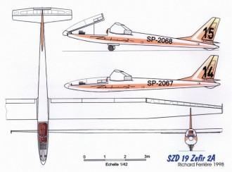 zefir 3v model airplane plan