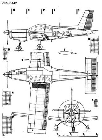 zlin142 3v model airplane plan