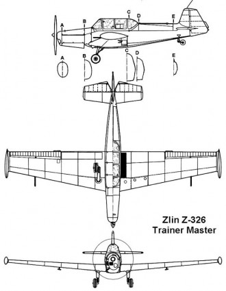 zlin326 3v model airplane plan