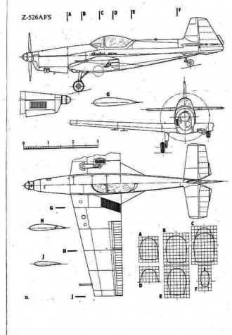 zlin526afs 3v model airplane plan