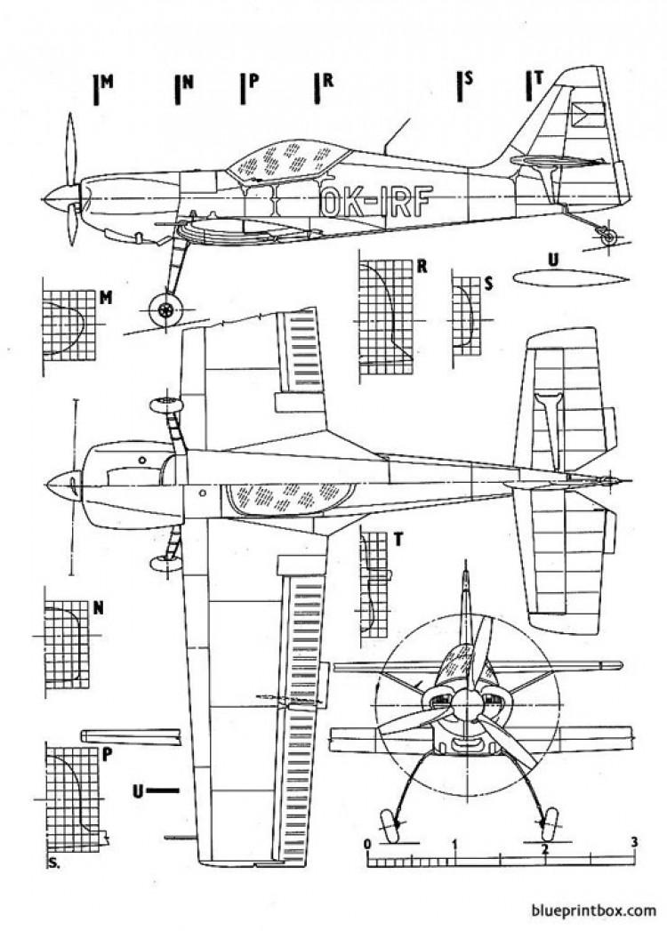 zlin 50 model airplane plan
