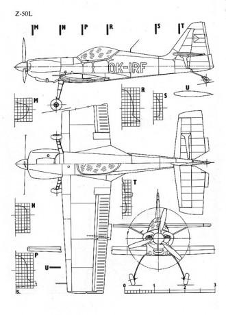 zlin 50 3v model airplane plan