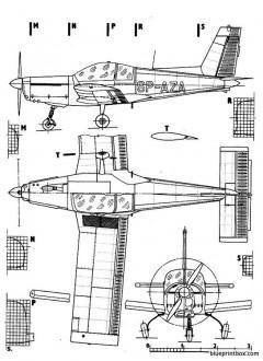 zlin z 142 model airplane plan