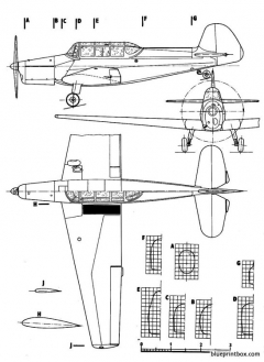 zlin z 26 trainer model airplane plan