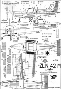 zlinz42m 3v model airplane plan