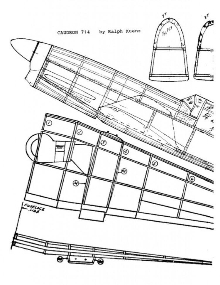 714caudron model airplane plan