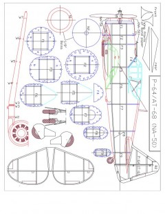 AT-68-Model 1 model airplane plan