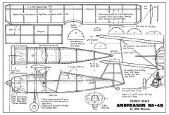 Andreason BA-4B model airplane plan