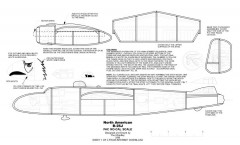 B-25 No-Cal model airplane plan