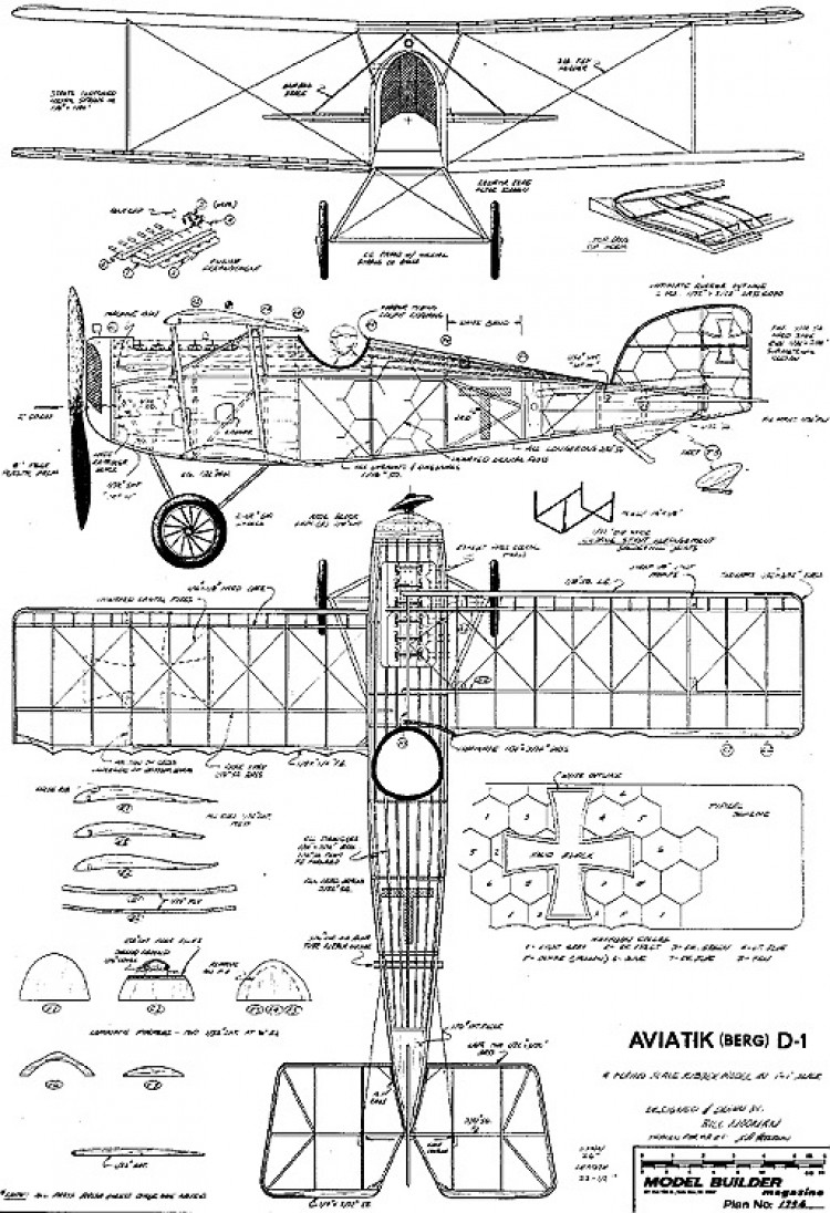 Bergd-1 model airplane plan