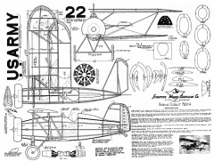 Boeing F4B-4 - 10 cent plans by Scientific model airplane plan