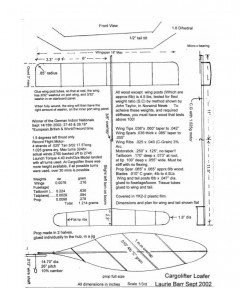 EZB Laurie Barr - Cargolifter Loafer model airplane plan