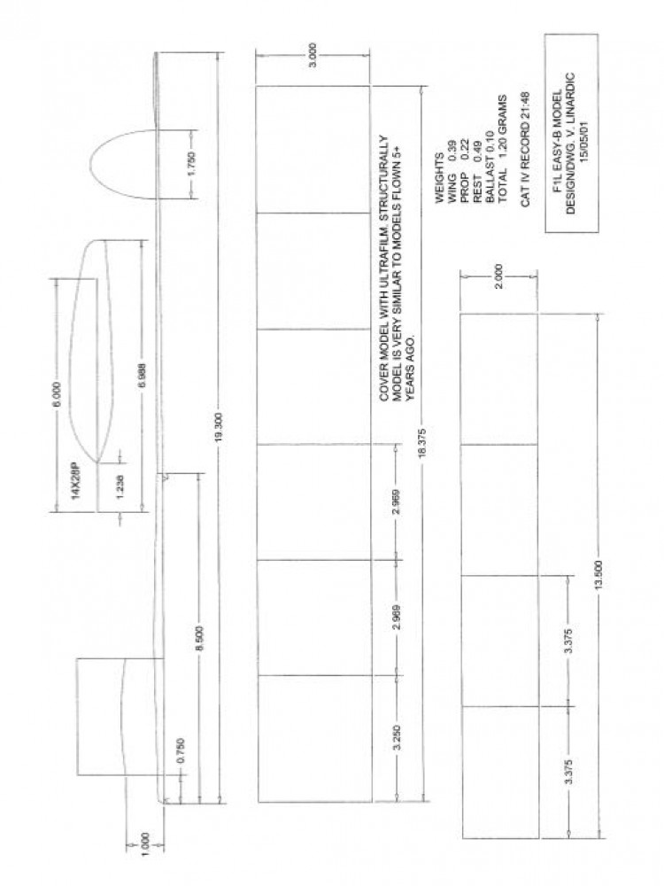F1L Linardic - F1L model airplane plan