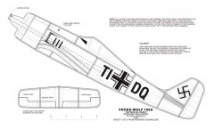 FW-190 No-Cal model airplane plan