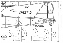 Fairey Battle p2 model airplane plan