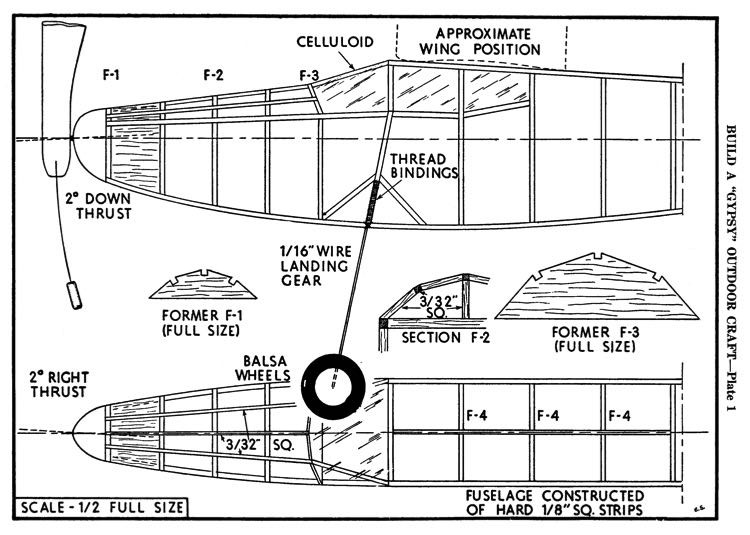 Gypsy p1 model airplane plan