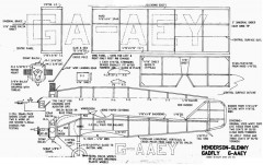 Henderson Glenny Gadfly model airplane plan