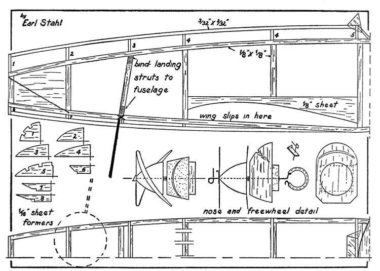Huri1 model airplane plan