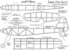 jimmie allen special model airplane plan