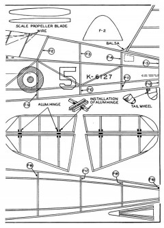Lysander p2 model airplane plan