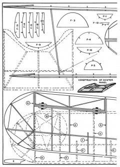 Martin Dive Bomber p3 model airplane plan