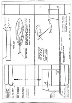 Ministick Joe Krush - K777 model airplane plan