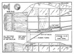 O-49 1 model airplane plan