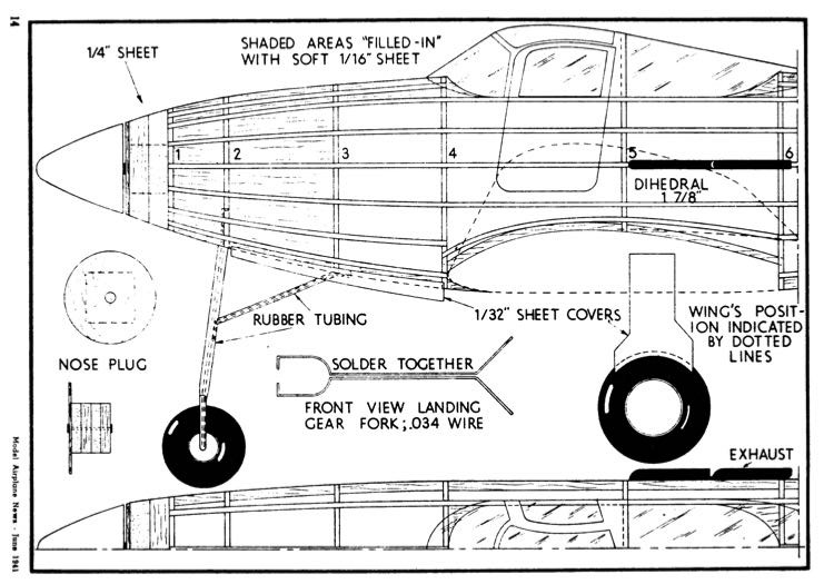 P-39-1 model airplane plan