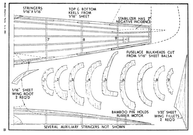P-39-2 model airplane plan