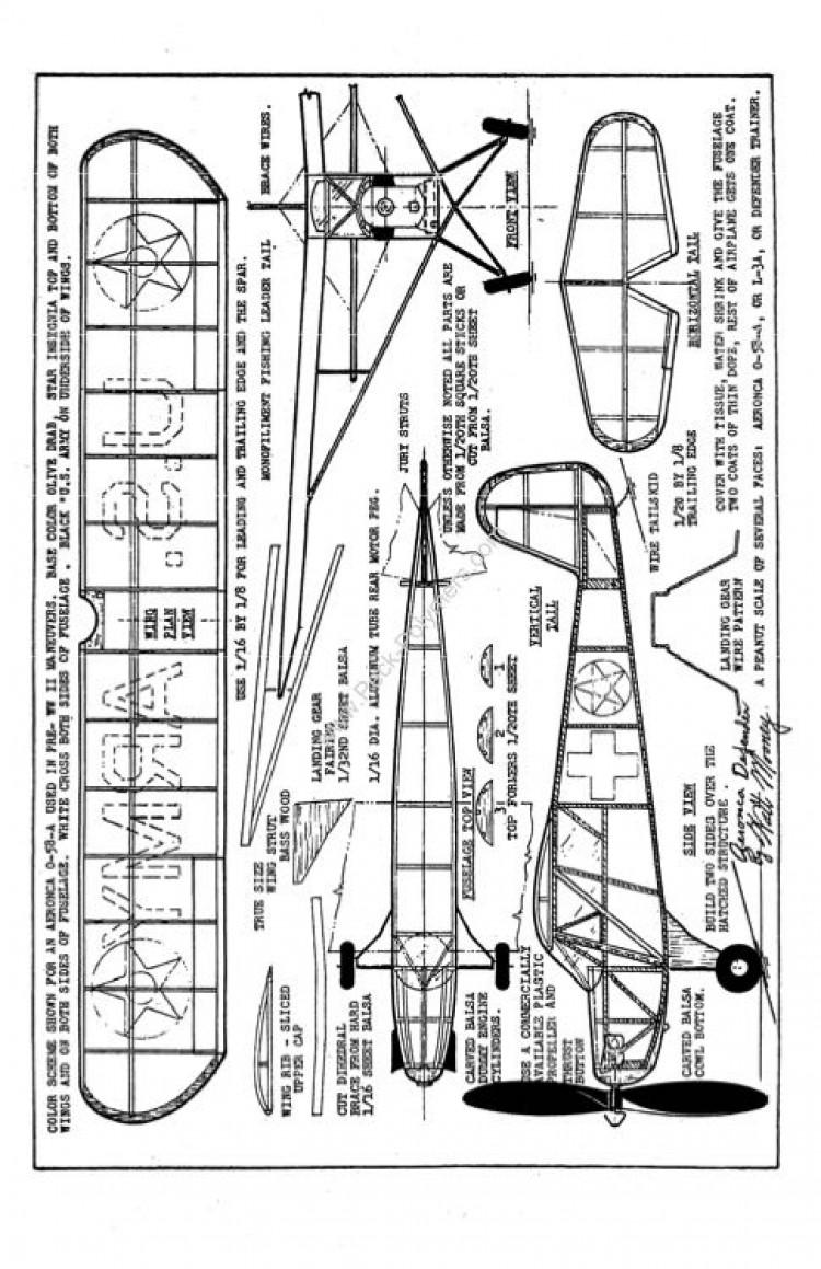 Peanut Walt Mooney - AeroncaDefender model airplane plan