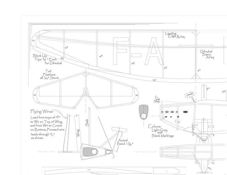 Bleriot110 model airplane plan
