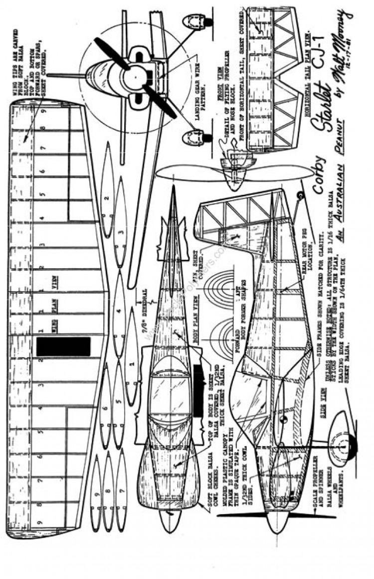 Peanut Walt Mooney - CorbyStarlet model airplane plan