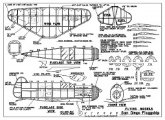 San Diego Flagship - late 1930's racer from Flying Models model airplane plan